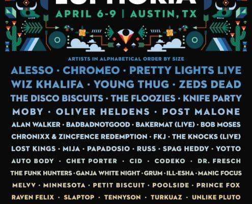 lineup Euphoria Festival 2017